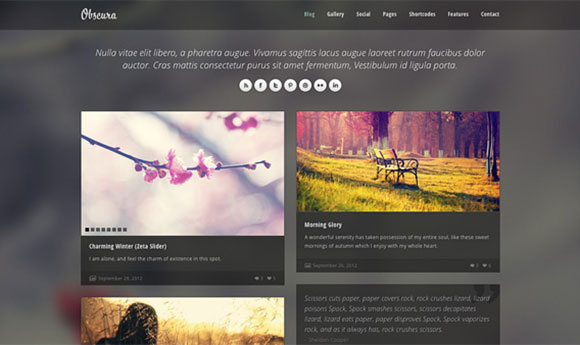 Obscura Free Responsive HTML Template - Freebiesbug