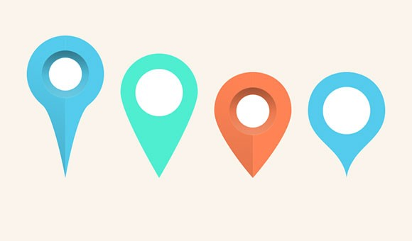 Map pins  markers PSD - Freebiesbug - pins on a map
