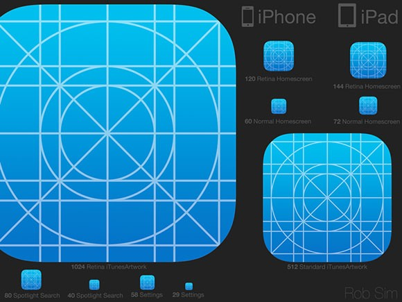 iOS7 Icon Template PSD - Freebiesbug