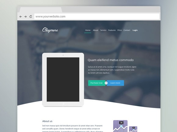 Claymore - Landing page for app presentation - Freebiesbug - app landing page template
