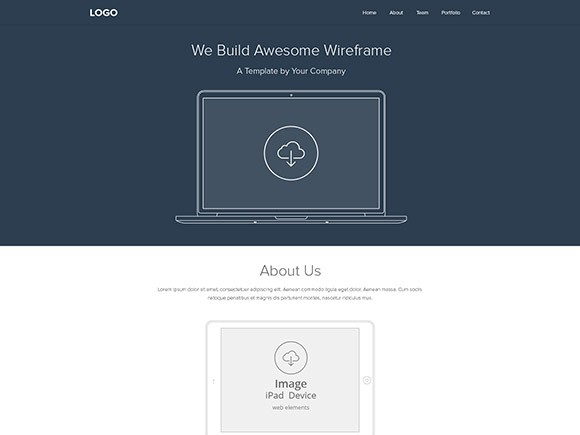 Web wireframe layout PSD - Freebiesbug - wireframe templates