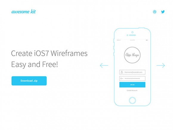 Awesome UX Kit - AI wireframe templates - Freebiesbug - wireframe templates
