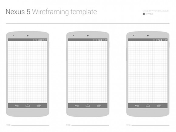 Nexus 5 wireframe template - Freebiesbug - wireframe templates