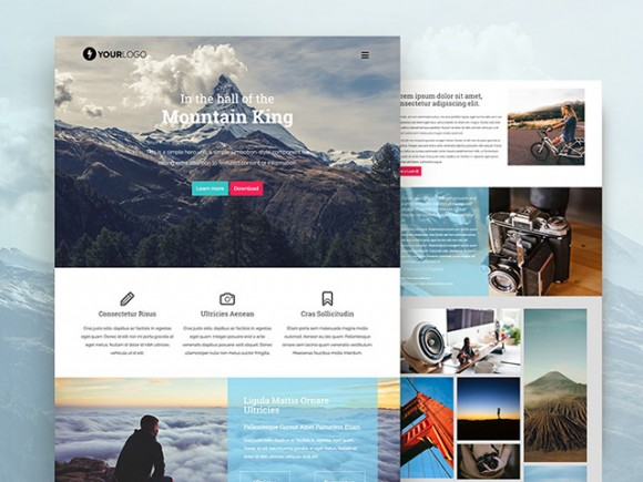 Mountain King HTML Bootstrap template - Freebiesbug