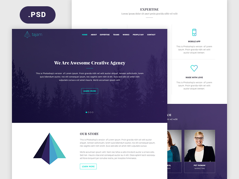 psd landing page templates