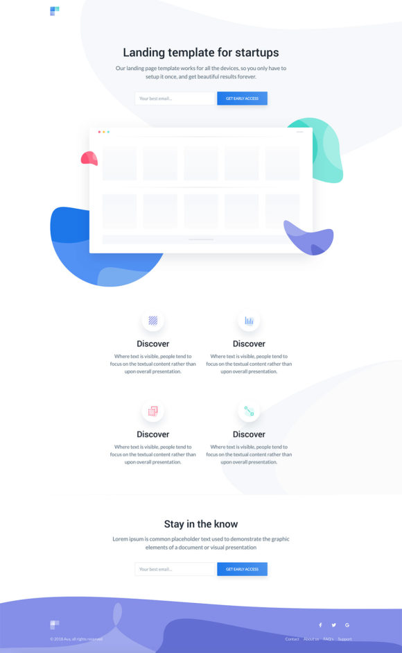Ava HTML landing page for beta products - Freebiesbug