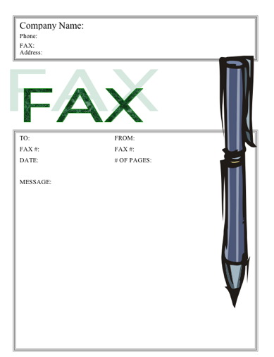 Stylish Stylus Fax Cover Sheet at FreeFaxCoverSheetsnet