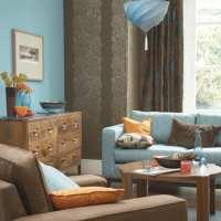 wohnzimmer braun und blau - fresHouse