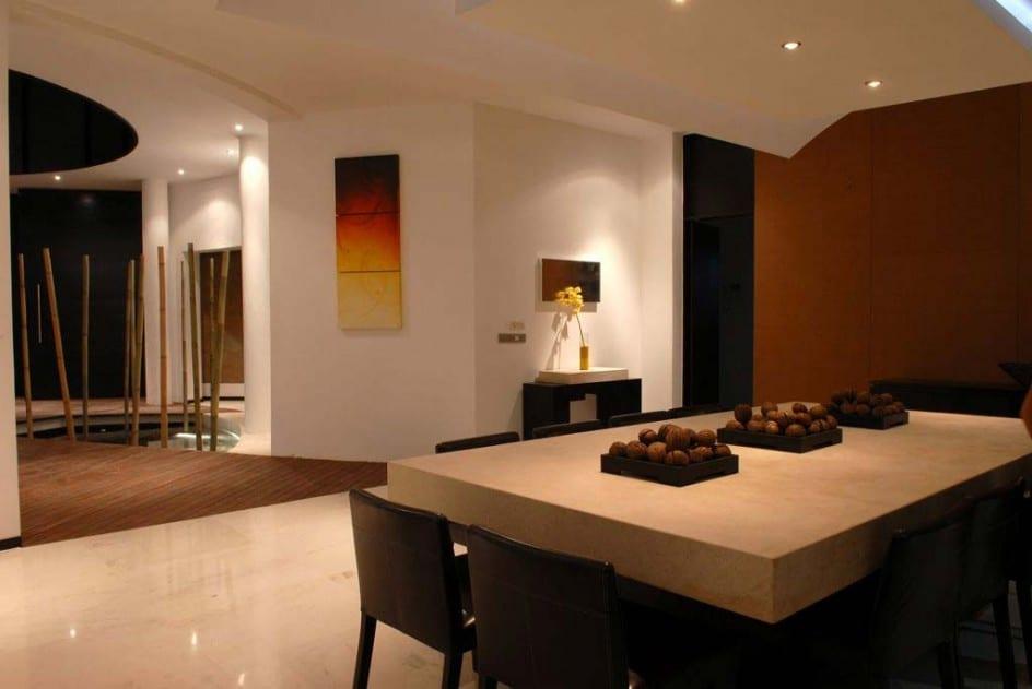 Wohnzimmer Bambus