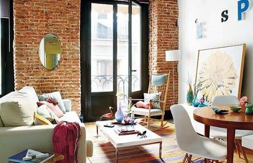 einrichtungsideen wohnzimmer für schöne wohnzimmer mit ziegelmauer - schone wohnzimmer