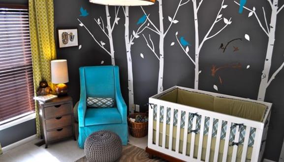 Babyzimmer einrichten und dekorieren - fresHouse - kinderzimmer gestalten wand