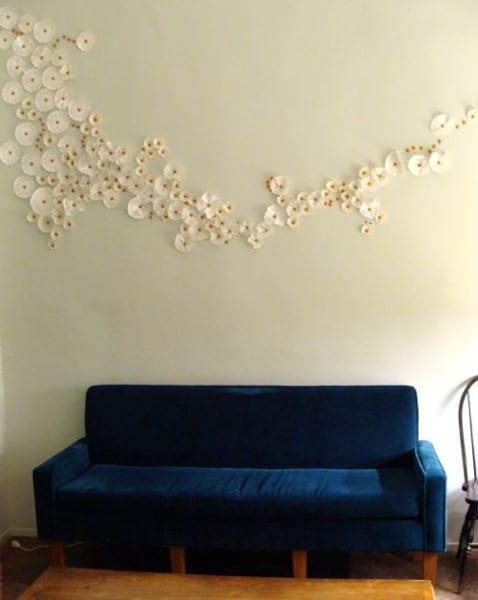 papierblumen für kreative wandgestaltung - fresHouse - kreative wandgestaltung