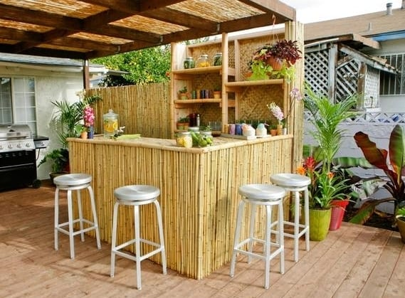 Outdoor Küche Do It Yourself Diy Garten Bar Aus Bambus - Freshouse