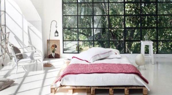 DIY Bett und eigener Designer-Nachttisch aus Paletten - fresHouse - designer nachttische schlafzimmer
