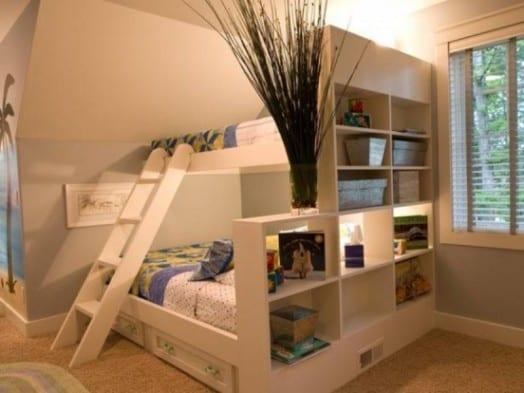kleines kinderzimmer einrichten mit etagenbett als platzsparende - wie kinderzimmer einrichten