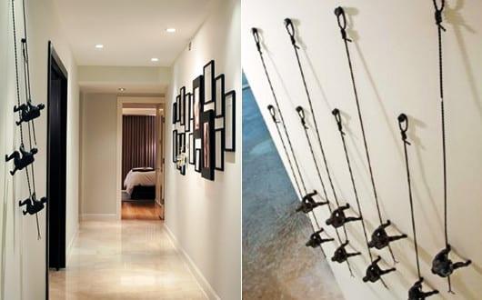 kreative-wandgestaltung-flur-mit-3D-wanddeko-metall - fresHouse - kreative wandgestaltung
