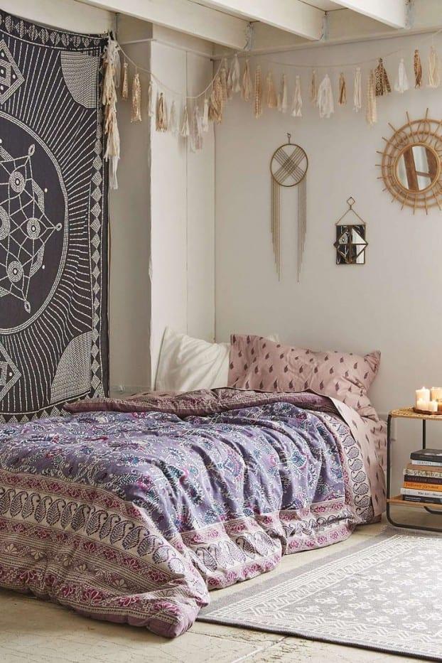schlafzimmer ideen im boho stil_passende wandgestaltung und - 50 schlafzimmer ideen im boho stil