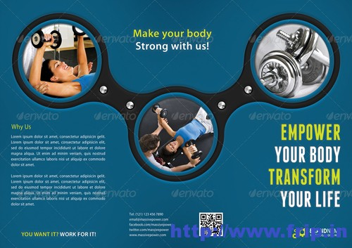 50+ Best Spa,Fitness  Hair Salon Brochure Template Fripin - fitness brochure template