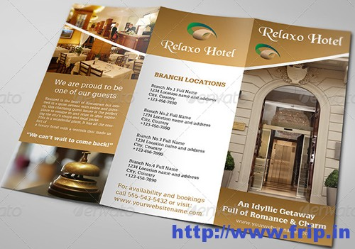 hotel brochure template free
