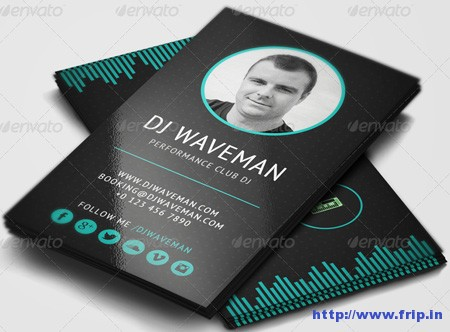 25+ Best DJ Business Cards Print Templates Fripin