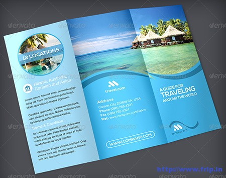 30+ Best Travel Agency Trifold Brochure Print Templates Fripin