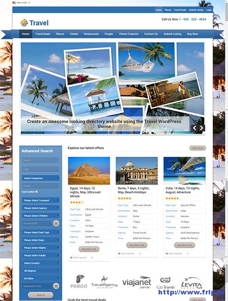 28 Best WordPress Travel Themes 2015 (Create Your Travel Website Now - wordpress travel themes