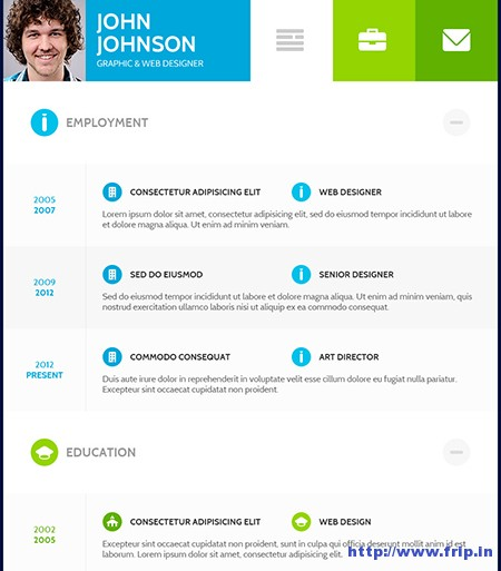 25+ Best WordPress Resume Themes 2015 Fripin - resume wordpress theme
