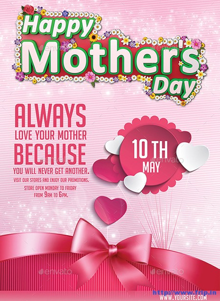35 Best Mother\u0027s Day Flyer Print Templates 2018 Fripin