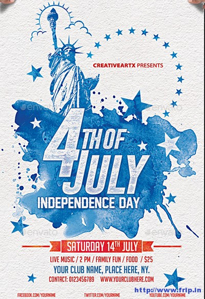 60 Best 4th of July US Independence Day Flyers Print Templates - 4th of july template