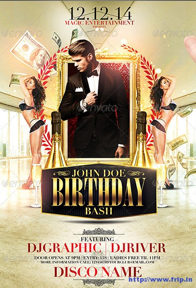 30+ Best Birthday Bash Party Flyer Print Templates Fripin