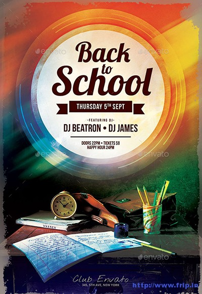60+ Best Back To School Flyer Print Template 2018 Fripin