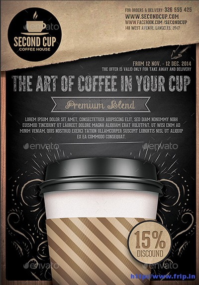 50 Best Coffee Shop Flyer Print Templates 2017 Fripin