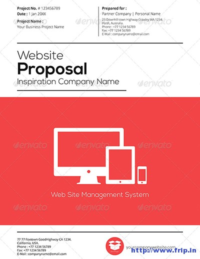 50 Best Business Proposal Template (Print Templates) 2015 Fripin