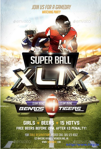 50 Best Super Bowl Flyer Print Templates 2016 Fripin