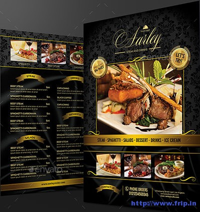 100 Great Restaurant Food Menu Print Templates 2016 Fripin