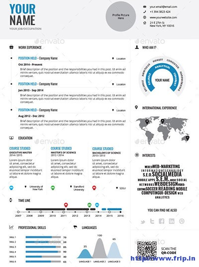 infographic cv template free word