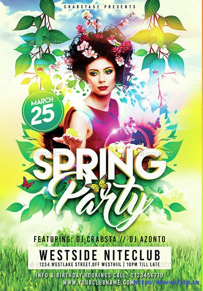 spring party flyer - Ozilalmanoof - spring flyer template