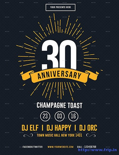 70 Best Anniversary Party Flyer Print Templates 2017 Fripin - anniversary flyer