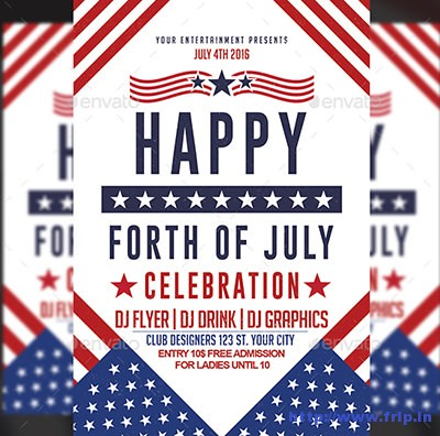 60 Best 4th of July US Independence Day Flyers Print Templates