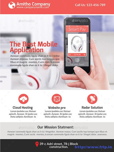 60 Best Mobile App Promotion Flyer Print Templates 2017 Fripin - web flyer template