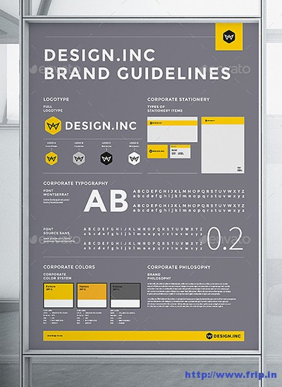 50+ Best Brand Manual  Corporate Design Guidelines Template 2016