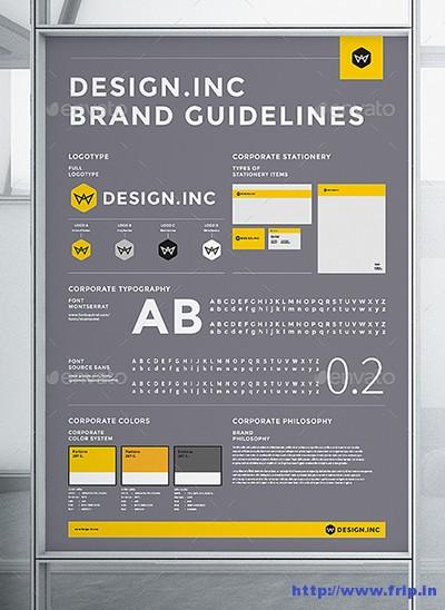 50+ Best Brand Manual  Corporate Design Guidelines Template 2016 - manual design templates