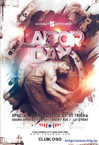 20 Best Labor Day Flyer Templates 2017 Fripin - labour day flyer template