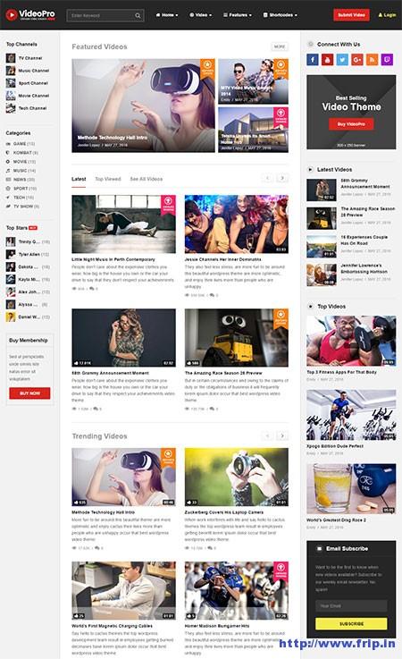 30 Best WordPress Video Themes 2019 (Free  Premium) Fripin