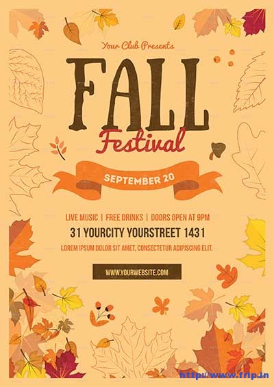 80 Best Fall Festival Flyer Print Template 2018 Fripin