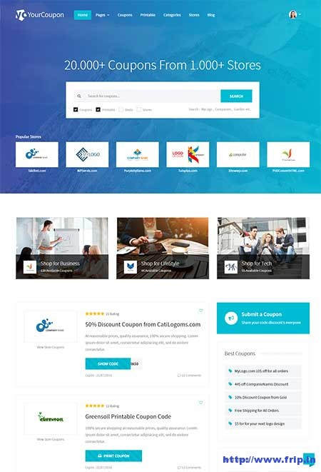 12 Best Coupon Website Template 2019 Fripin