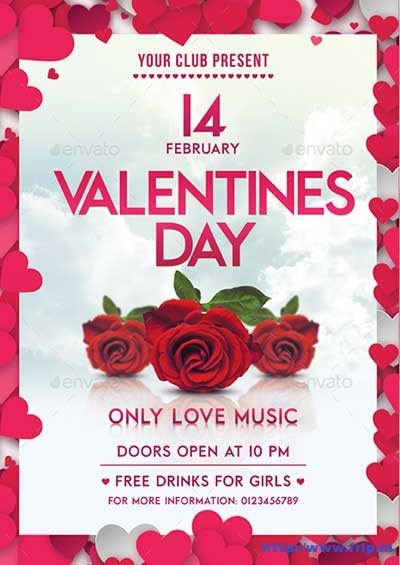65 Best Valentine\u0027s Day Party Flyer Templates 2018 Fripin