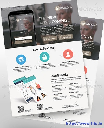 60 Best Mobile App Promotion Flyer Print Templates 2017 Fripin