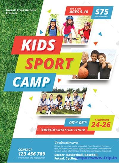 50+ Best Kids Summer Camp Flyer Print Templates 2018 Fripin - emerald flyer template