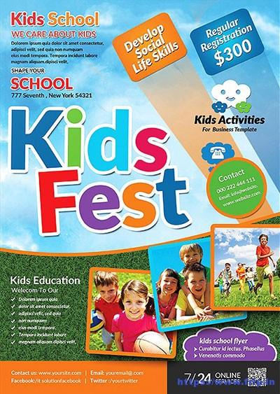 50+ Best Kids Summer Camp Flyer Print Templates 2018 Fripin